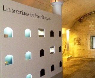 L'exposition sur le Fort Boyard et ses dispositifs audiovisuels