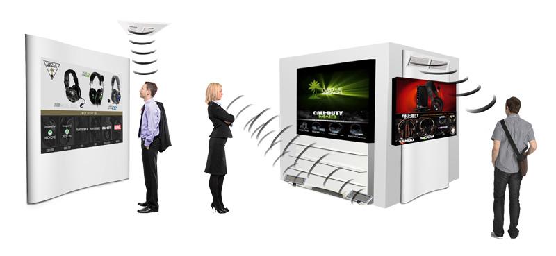 L'HyperSound HSS3000, déclinaison contemporaine du système breveté HyperSonic Sound®, distribué par Waves System. Crédits : Waves System