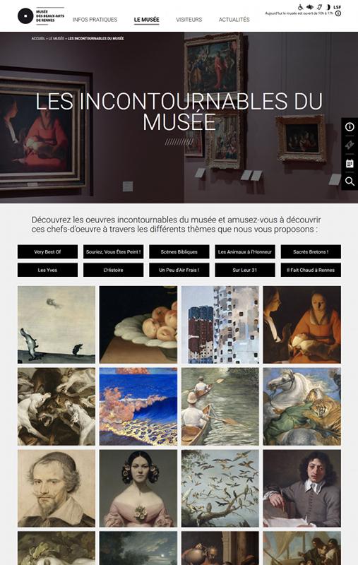 Page Les incontournables du musée - Site internet Musée des beaux-arts de Rennes