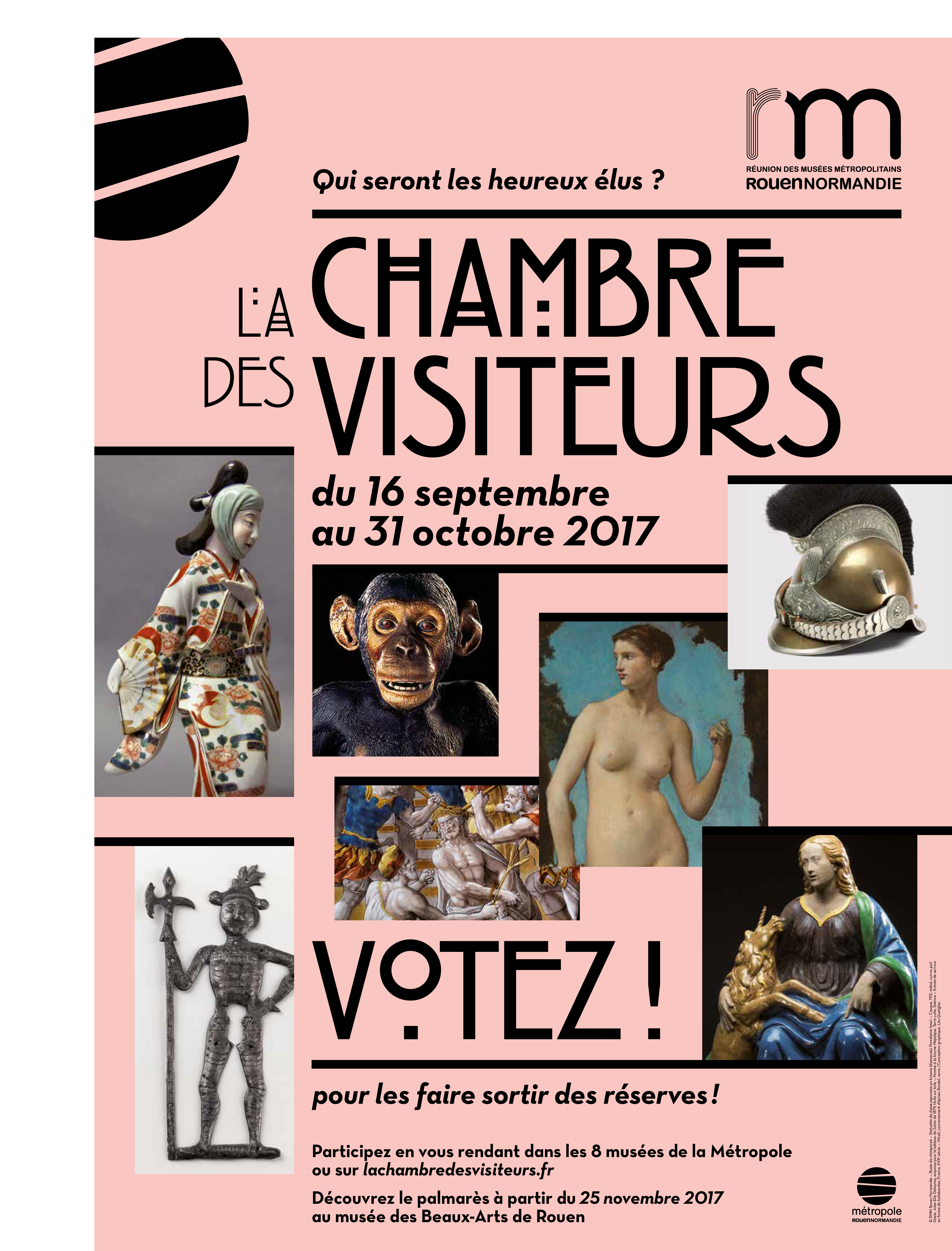 Affiche La Chambre des Visiteurs RMM Rouen
