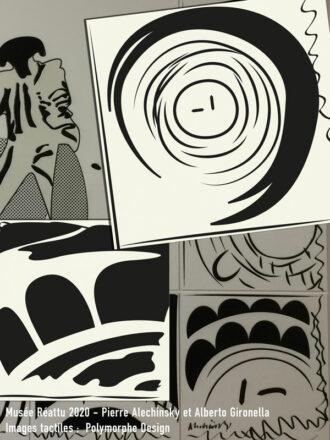 Interprétation tactile de l'œuvre de Pierre Alechinsky et Alberto Gironella au musée Réattu.