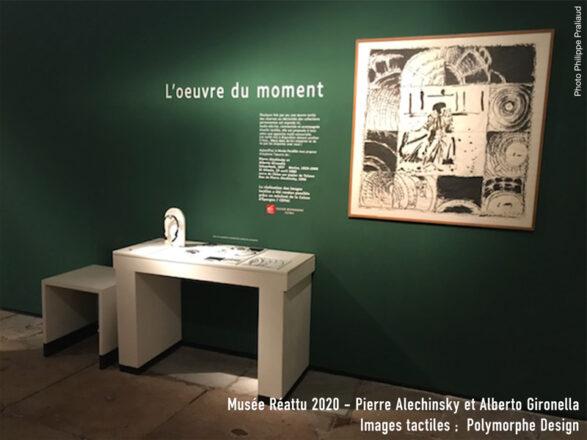 Dispositif adapté de l'œuvre de Pierre Alechinsky et Alberto Gironella au musée Réattu.