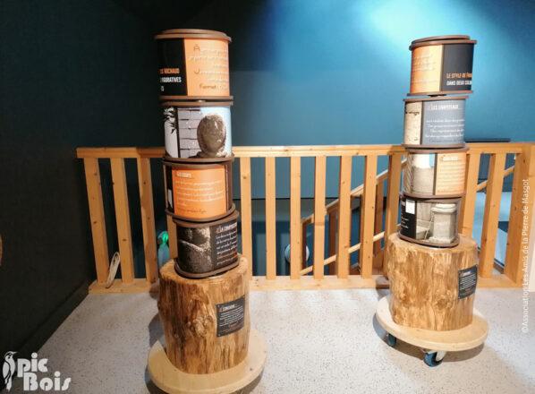 Des cylindres rotatifs permettent de reconstituer des statues